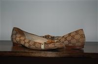 Monogram Gucci Flats, size 7.5