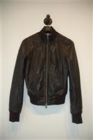 Black Leather Mackage Leather Jacket, size XS