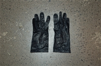 Black Leather No Label Gloves, size O/S