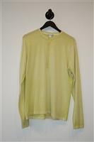 Chartreuse Autumn Cashmere Henley, size L