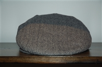 Herringbone No Label Flat Cap, size O/S
