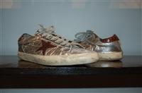 Silver Golden Goose Sneaker, size 10
