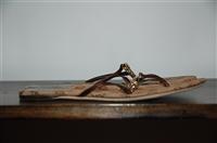 Monogram Gucci Sandal, size 7