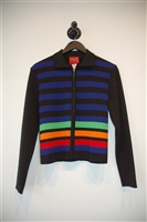 Striped Kenzo - Vintage Zippered Sweater, size M