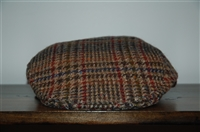 Tweed No Label Flat Cap, size O/S