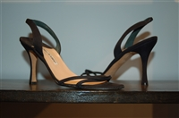 Basic Black Manolo Blahnik Sandal, size 8