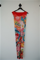 Print Issey Miyake - Pleats Please Midi Dress, size M