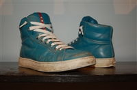 Turquoise Prada High-Top Sneakers, size 8