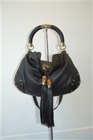 Black Leather Gucci Handbag, size M