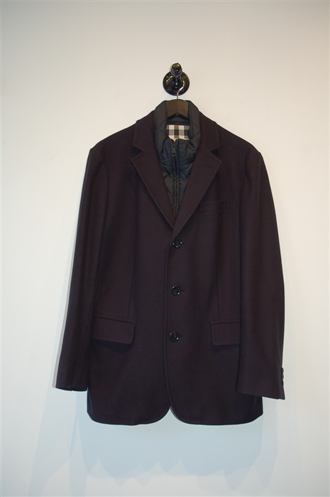 Navy Burberry - London Coat, size M