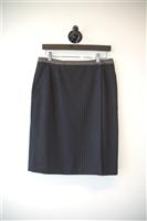 Navy Stripe Tara Jarmon Wrap Skirt, size 8