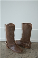 Aged Leather Be&d Boots, size 6.5
