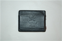 Black Leather Herschel Supply Co Card Case, size O/S