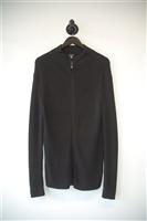 Basic Black Armani Jeans Zippered Sweater, size XL