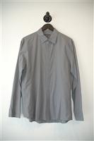 Gray Stripe John Varvatos Button Shirt, size L