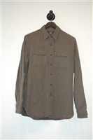 Gray Stripe Ralph Lauren - RRL Button Shirt, size M