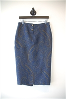 Paisley Marina Rinaldi Pencil Skirt, size M