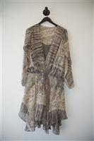 Gray & Cream All Saints Drop Waist Dress, size S