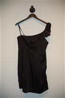 Satin Black BCBG Maxazria Cocktail Dress, size 10