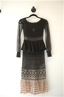 Black & Nude Alexander McQueen Off-Shoulder Dress, size XS