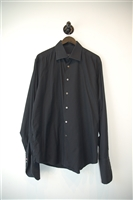 Basic Black Canali Button Shirt, size XL
