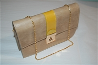 Taupe No Label Clutch, size S