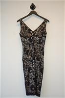 Black Lace Dolce & Gabbana Sheath Dress, size M