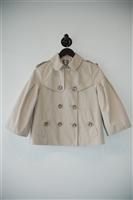 Pale Beige Burberry - London Cropped Jacket, size 4