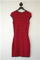 Red & Black Alexander McQueen Sheath Dress, size S