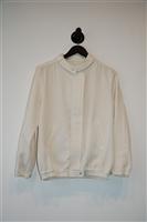 Cream Tara Jarmon Zippered Jacket, size 8