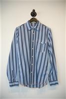 Blue Stripe Arnold Zimberg Button Shirt, size S