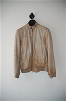 Desert Sand Gimo's Leather Bomber, size M