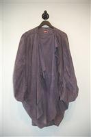 Lavender Issey Miyake - Vintage Leather Coat, size L