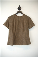 Olive Marina Rinaldi Short-Sleeved Top, size M