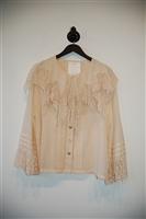 Pale Peach Chloe - Vintage Blouse, size M