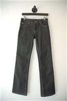 Black Denim Louis Vuitton Straight Leg Jean, size 25