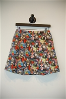 Floral Alice + Olivia Pleated Skirt, size 4