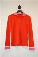 Bright Orange Loro Piana Shirt, size 8