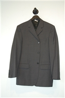 Gray Stripe Alexander McQueen Two-Piece Suit, size 40
