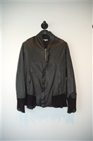 Black Leather Damir Doma Leather Bomber, size S