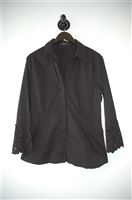Basic Black BCBG Maxazria Button Blouse, size M