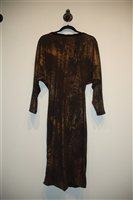 Black & Bronze Lucian Matis Jersey Dress, size M