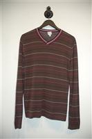 Brown Stripe Armani Collezioni Pullover, size M