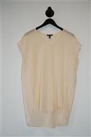 Pale Peach Eileen Fisher Cap-Sleeve, size XS