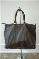 Dark Leather Gucci Tote, size L