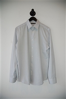 White Stripe Theory Button Shirt, size M
