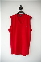 Bright Red Dior Homme Vest, size L