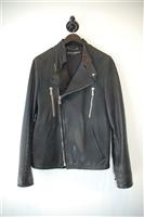 Black Leather Dolce & Gabbana Leather Jacket, size L