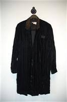 Black Velvet No Label Coat, size L