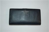Black Leather Kate Spade Wallet, size O/S